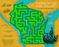 The Marquette and Jolliet Expedition - Art by Josh Cox