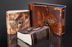 Why not start writing your own book in these AMAZING hand-made leather bound journals? They also make photo albums and any size book you want.