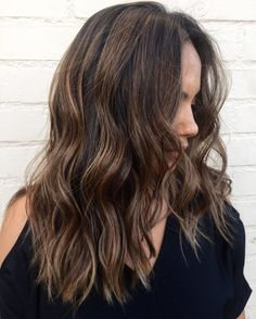 Dark Brown and Caramel Blend with Foils