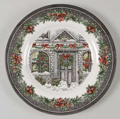 Your Favorite Brands Holiday Accent Plates Salad Plate