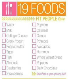 Foods for fit people