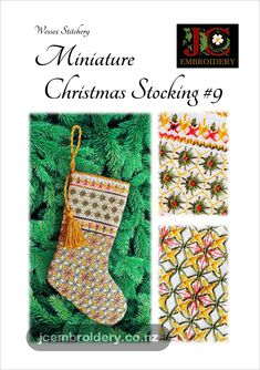Traditional counted thread embroidery techniques taught through simple projects, clear comprehensive diagrams and photographs. Chocolate Bars, Miniature Christmas, Candy Canes, Embroidery Techniques, Easy Projects, Small Gifts, Christmas Stockings, Miniatures, Sparkle