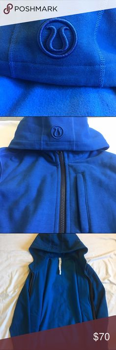 Blue Lululemon Hoodie Yoga & Workout Apparel. Mint Condition. Extremely Comfortable. lululemon athletica Sweaters Zip Up