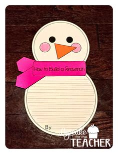 Snowman Craft and NO PREP Printables for January!