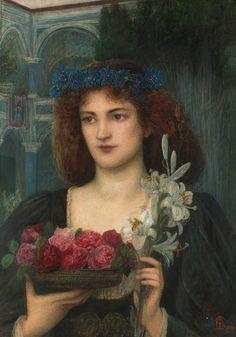 Beatrice  -  Marie Spartali Stillman. English Pre-Raphaelite Painter (1844 - 1927), c. 1989