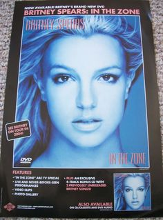 """Britney Spears / In The Zone / 2004 Tour Jive Records Promo Poster / 11"""" X 17"""" / RARE ! #Pop #Music"""
