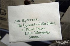 The Establishing Shot: THE MAKING OF HARRY POTTER TOUR - HARRY POTTER'S INVITATION TO HOGWARTS SCHOOL OF WITCHCRAFT AND WIZARDRY ADDRESED TO MR H POTTER THE CUPBOARD UNDER THE STAIRS - INTERIOR SETS | Flickr - Photo Sharing!