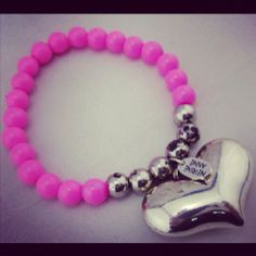pulsera rosa neon