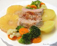 Recetas Monsieur Cuisine: Solomillo de Cerdo con Piña y Guarnición