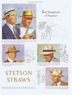 1948 VINTAGE AD - STETSON HATS