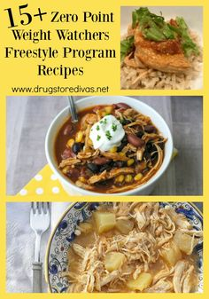 You can diet and still have delicious dinners. Check out these 15 Zero Point Weight Watchers Freestyle Program Recipes from www. Weight Watcher Dinners, Weight Loss Snacks, Weight Watchers Freezer Meals, Ww Recipes, Healthy Recipes, Healthy Tips, Weigt Watchers, Weight Watchers Smart Points, Easy Diets