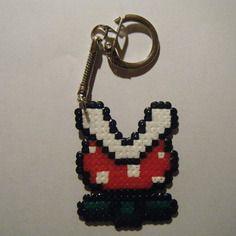 Porte clés plante piranha - super mario bros. - bead sprite