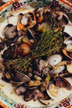 This #clamchowder is so #festive for a #warm weather #clambake  Photography by ambergress.com/  Read more - http://www.stylemepretty.com/2013/08/07/summer-clambake-in-the-city/