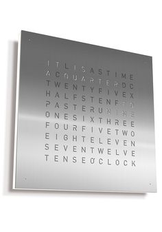 Qlocktwo Solid Steel 45cm Wall Clock