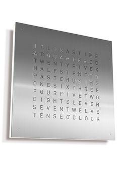 Qlocktwo Solid Steel 45cm Wall Clock