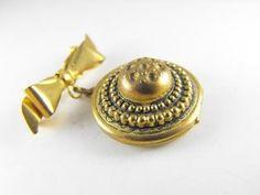 Pretty Photo Locket Bow Pin Victorian Revival Style by hipcricket, $15.00