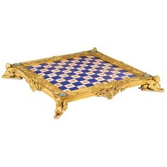 Monumental French Gilt and Enameled Chess Board