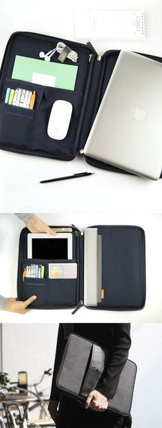 Get ready for the MVP of Organization! The Better Together Laptop Pouch makes it sleek & simple. The right side has a pocket for your laptop & the other side has a zippered pocket for chargers,