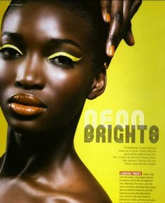 Neon Magazine #eyes #lipstick #makeup