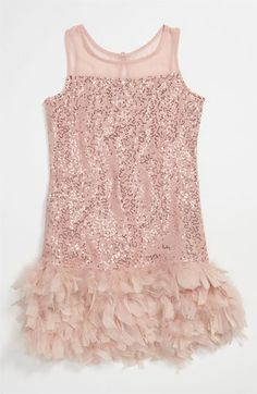 Elisa B Fancy Feather Dress (Big Girls) available at Nordstrom