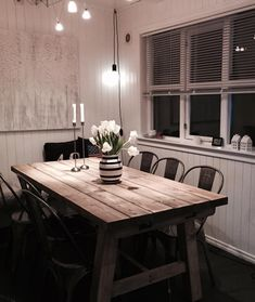 Hjem Dining Table, Rustic, Furniture, Home Decor, Homemade Home Decor, Diner Table, Dinning Table Set, Retro, Home Furnishings