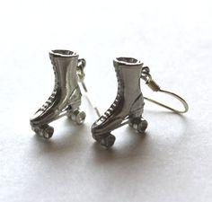 Earrings Roller skates by Bunnys on Etsy, $18.00