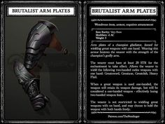 The Enchantments, Dnd 5e Homebrew, Darkest Dungeon, Dungeons And Dragons Homebrew, Arm Armor, Tabletop Rpg, Fantasy World, Home Brewing, Weapons