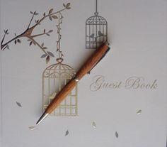 Merbau Woodturned Slimline Pen by RomanticRiver on Etsy