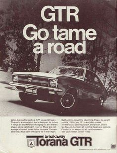 The other GTR Holden Muscle Cars, Aussie Muscle Cars, Vintage Racing, Vintage Cars, Holden Torana, Holden Australia, Australian Cars, Car Brochure, Cool Vans