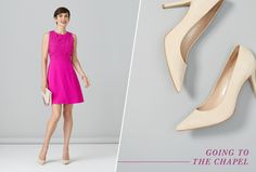 What to Wear to a Summer Wedding--love the color and style of this dress except would want it longer.  Cover the knees.