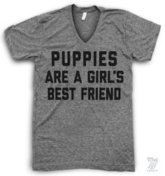 Puppies are a girl's best friend!
