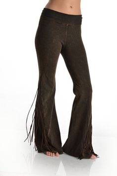 5dd0818a40583 T-Party fit and flare fringed mineral washed yoga palazzo pants foldover  waist #TParty #Fitandflarestretchyogapalazzo