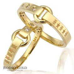Gold initial rings TCR17734