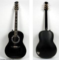 Paul Simon's Ovation acoustic guitar used at the 1981 Simon & Garfunkel reunion concert....