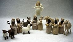 It is called Natural Nativity on the website, was originally call Christmas Wishes-£2.50  It is the second nativity pattern available on the website. The pattern was previously published in Irresistible Gifts to Knit as Christmas Wishes and does NOT include a stable.    Sizes: Figures are 13 cm/5 inches tall.    Includes: Mary and Baby Jesus, Joseph, angel, two shepherds, three kings, sheep, donkey, camel