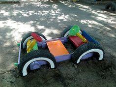 ь - Backyard Garden Diy Kids Kids Outdoor Spaces, Kids Outdoor Play, Outdoor Play Areas, Kids Play Area, Backyard For Kids, Tire Playground, Outdoor Playground, Summer Fun For Kids, Diy For Kids