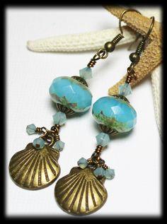 Etsy Handmade Jewelry AFRICAN EARRINGS | Handmade Beaded Jewelry Earrings Seashell Sea ... | Handmade Jewelr...