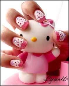 Nail art  *Cupcake for a little girl mani?