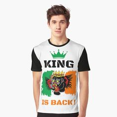 #thekingisback #conormcgregor #ufc #mma #findyourthing #shirtsonline #trends #riveofficial #favouriteshirts  #art #style #design #shopping #redbubble #digitalart #design #fashion #phonecases #customproducts #onlineshopping #accessories #shoponline #onlinestore Vivid Colors, Colours, Conor Mcgregor, Ufc, Female Models, Ireland, Shirt Designs, King, Trends