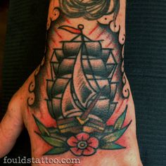 Great ship piece by Fould Tattoo
