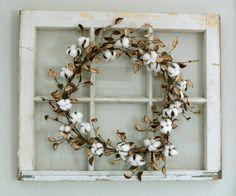 Cotton Boll Wreath Farmhouse Decor Farmhouse by BoxwoodManorFarm