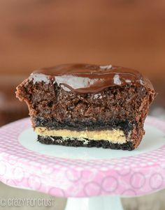 Mini Chocolate Mud Pies with Oreo Crust Recipe ~  chocolate to the extreme... Says: these babies are amazing. So rich, you'll need a glass of milk to eat them. These are seriously to die for. If you're having a rich chocolate craving, these will satisfy it!