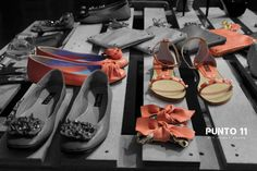 "Punto 11 shoes, ""The salmon dance"""
