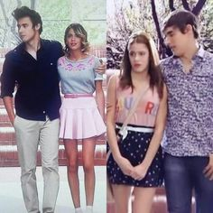 Violetta on We Heart It 14th Birthday Party Ideas, Violetta Outfits, Violetta Live, Batman And Catwoman, Disney Channel Shows, Cutest Couple Ever, Teen Girl Fashion, Jennifer Winget, Son Luna