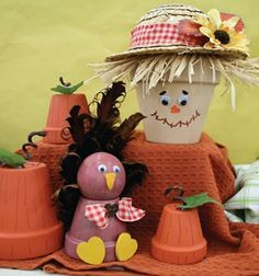 clay pots for halloween