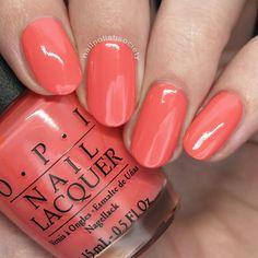 Nail Polish Society>> OPI Summer 2017 California Dreaming Collection – - New Sites Opi Nail Polish Colors, Orange Nail Polish, Orange Nails, Opi Polish, Nails Opi, Coral Nails, Nail Manicure, Gradient Nails, Spring Nail Colors