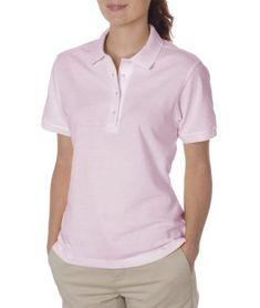 388b7b9b1 Jerzees 437W Ladies 50-50 Jersey Golf Shirt, Classic Pink - Extra Large