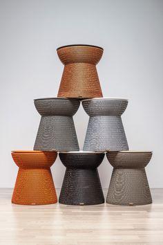 Cork, la seduta in versione bronzo, grigio, silver, orange, black e tortora | design robertopamio+partners www.staygreen.it