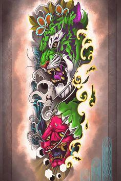 Photo shared by Diego Bilbao on April 02 2020 tagging tattoo and Koi Fish Tattoo Forearm, Dragon Tattoo Arm, Neo Tattoo, Tiger Tattoo, Sketch Tattoo Design, Tattoo Sketches, Full Hand Tattoo, Samurai Tattoo, Yakuza Tattoo