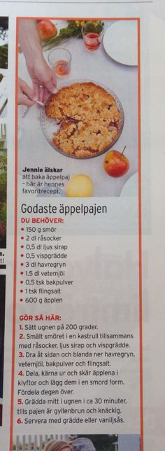 Äppelpaj (knäckig)
